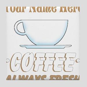 Custom Coffee Shop Tile Coaster