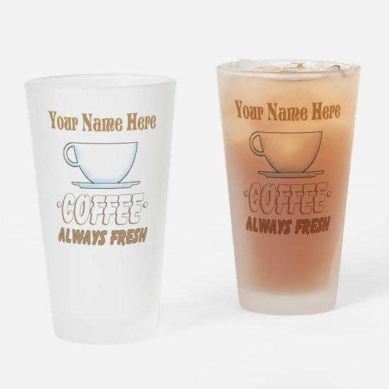 Custom Coffee Shop Drinking Glass