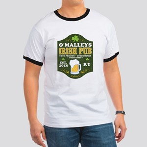 Irish Pub Personalized Ringer T