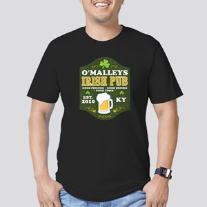 Irish Pub Personalized Men's Fitted T-Shirt (dark)