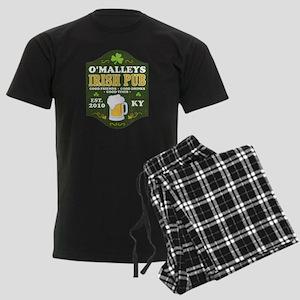 Irish Pub Personalized Men's Dark Pajamas