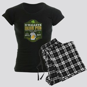 Irish Pub Personalized Women's Dark Pajamas