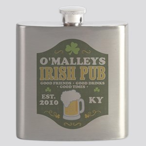 Irish Pub Personalized Flask