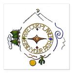 Hiker's Soul Compass Square Car Magnet 3