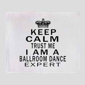 Ballroom Dance Expert Designs Throw Blanket