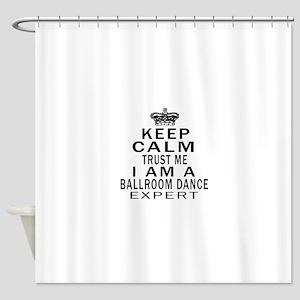 Ballroom Dance Expert Designs Shower Curtain