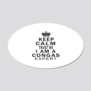 I Am Congas Expert 20x12 Oval Wall Decal