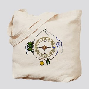 Hiker's Soul Compass Tote Bag