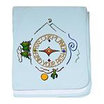 Hiker's Soul Compass baby blanket
