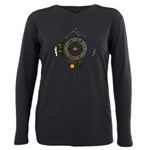 Hiker's Soul Compass Plus Size Long Sleeve Tee
