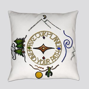Hiker's Soul Compass Everyday Pillow