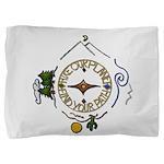 Hiker's Soul Compass Pillow Sham