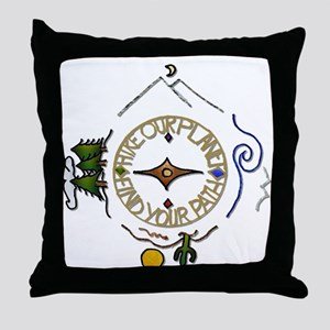 Hiker's Soul Compass Throw Pillow