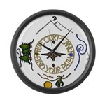 Hiker's Soul Compass Large Wall Clock