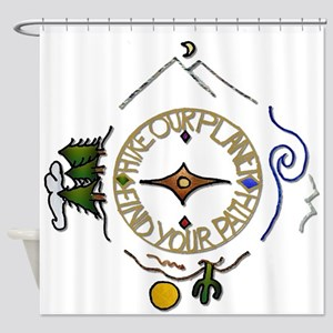 Hiker's Soul Compass Shower Curtain