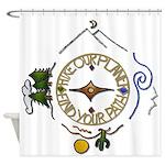 Hiker's Soul Compass Shower Curtain