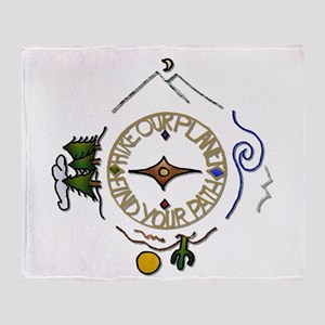 Hiker's Soul Compass Throw Blanket