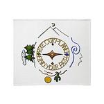 Hiker's Soul Compass Throw Blanket