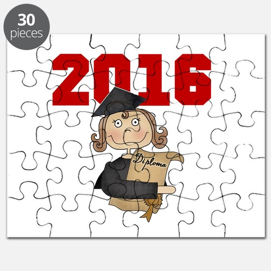Red Girl Grad 2016 Puzzle