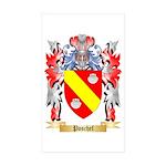 Poschel Sticker (Rectangle 50 pk)