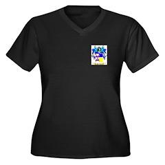 Portlock Women's Plus Size V-Neck Dark T-Shirt
