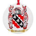 Popple Round Ornament