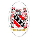 Popple Sticker (Oval 50 pk)
