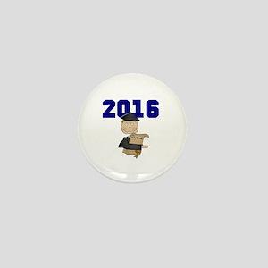 Blue Male Grad 2016 Mini Button