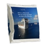 Life is a shipwreck Burlap Throw Pillow