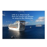 Life is a shipwreck Postcards (Package of 8)