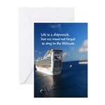 Life Is A Shipwreck Greeting Cards (pk Of 10)