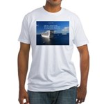 Life is a shipwreck Fitted T-Shirt