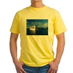 Life is a shipwreck Yellow T-Shirt