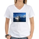 Life is a shipwreck Women's V-Neck T-Shirt
