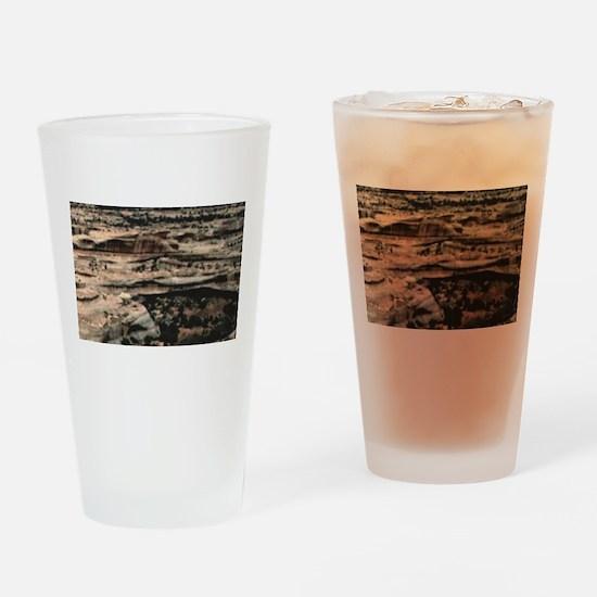 fancy texture of rocks Drinking Glass