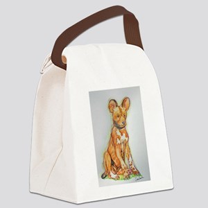African Wild Dog Canvas Lunch Bag