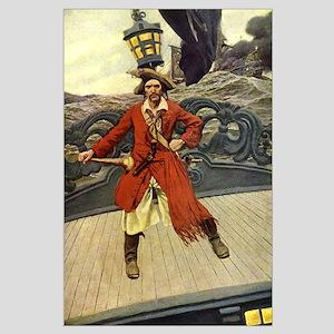 Pirate Captain Keitt Large Poster