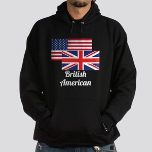 American And British Flag Hoodie