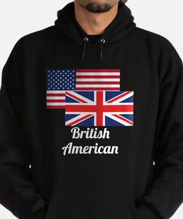 American And British Flag Hoody