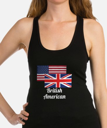 American And British Flag Racerback Tank Top