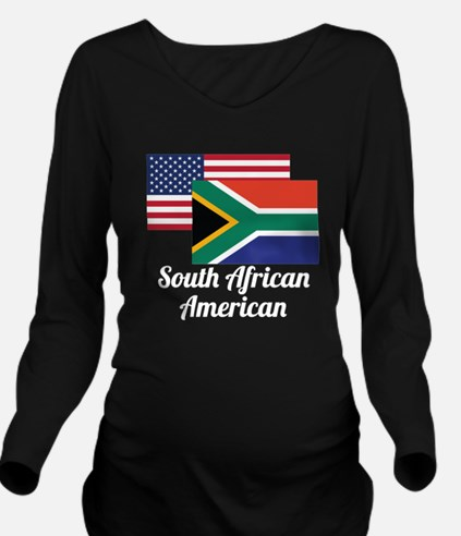 American And South African Flag Long Sleeve Matern