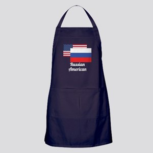 American And Russian Flag Apron (dark)