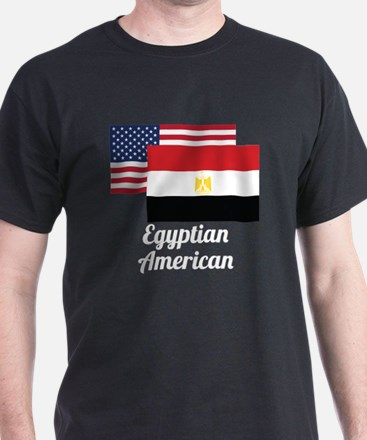 American And Egyptian Flag T-Shirt