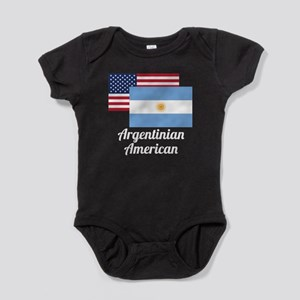American And Argentinian Flag Baby Bodysuit