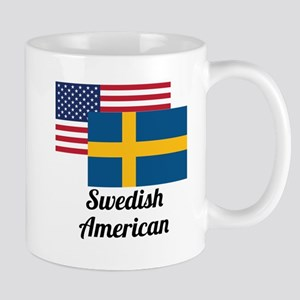 American And Swedish Flag Mugs
