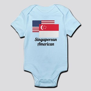 American And Singaporean Flag Body Suit