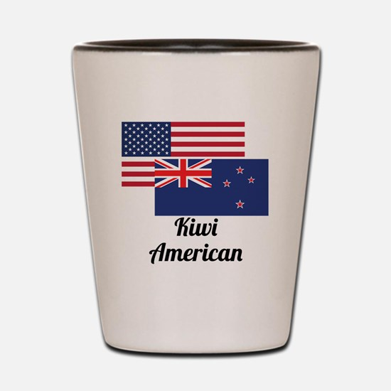 American And New Zealand Flag Shot Glass