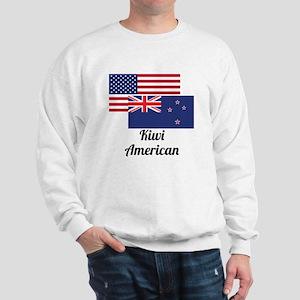 American And New Zealand Flag Sweatshirt