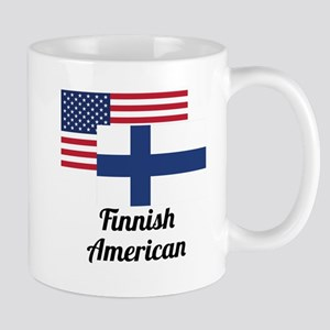 American And Finnish Flag Mugs