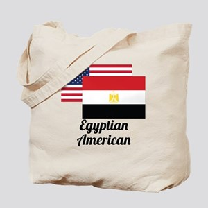 American And Egyptian Flag Tote Bag
